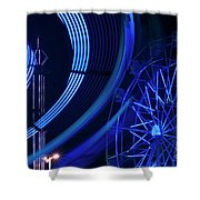 Ferris Wheel In Motion Shower Curtain