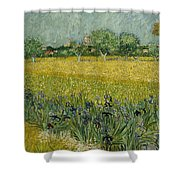 Field With Flowers Near Arles Shower Curtain