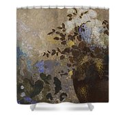 Flowers In A Black Vase Shower Curtain
