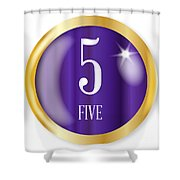 5 For Five Shower Curtain