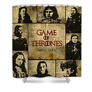 Game Of Thrones. House Stark. Shower Curtain