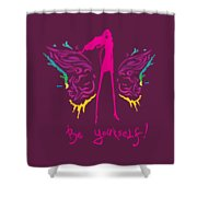 Girl With Angel Wings Shower Curtain