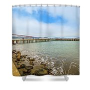 Golden Gate Bridge Crissy Field Shower Curtain