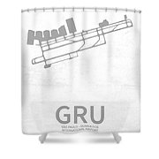 Gru Sao Paulo - Guarulhos International Airport In Guarulhos Bra Shower Curtain