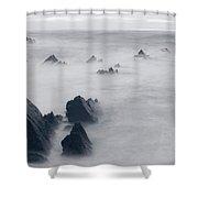 Hartland Quay - England Shower Curtain