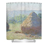 Haystacks, End Of Summer Shower Curtain
