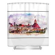 Hotel Del Coronado Shower Curtain