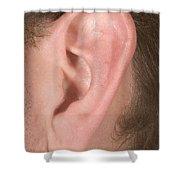 Human Ear Shower Curtain