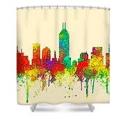 Indiana Indianapolis Skyline Shower Curtain
