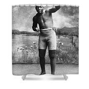 Jack Johnson (1878-1946) Shower Curtain by Granger