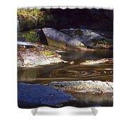 Waterfall Swirl Shower Curtain