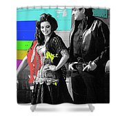 June Carter Cash Johnny Cash In Costume Old Tucson Az 1971-2008 Shower Curtain