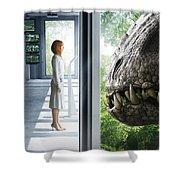 Jurassic World 2015  Shower Curtain