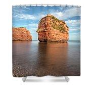 Ladram Bay - England Shower Curtain