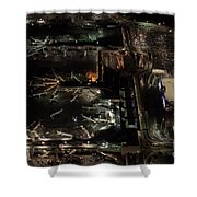 Laguardia Airport Aerial View Shower Curtain