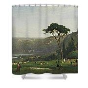 Lake Albano Shower Curtain