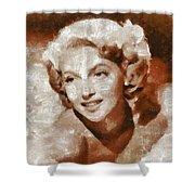 Lana Turner Vintage Hollywood Actress Shower Curtain
