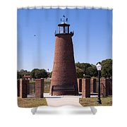 Lighthouse On Lake Toho At Kissimmee In Florida Shower Curtain