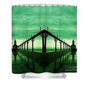 Lighthouse Reflections Shower Curtain