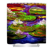 Lily Pond Shower Curtain