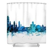 Lincoln Nebraska Skyline Shower Curtain