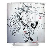 Love Is A Heart Shower Curtain