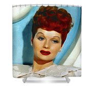 Lucille Ball, Vintage Actress Shower Curtain