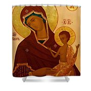 Madonna And Child Religious Art Shower Curtain