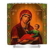 Madonna Enthroned Christian Art Shower Curtain