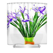 Majestic Iris Shower Curtain