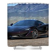 #mclaren #570gt #print Shower Curtain