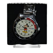 Mickey Mouse Watch Shower Curtain