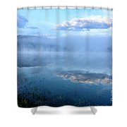 Misty Spring Morning  Shower Curtain