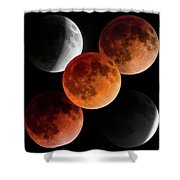 5 Moons Shower Curtain