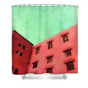 Moroccan Building Shower Curtain