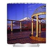 Mount Fuji In Autumn Shower Curtain