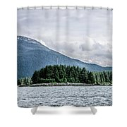 Mountain Range Scenes In June Around Juneau Alaska Shower Curtain