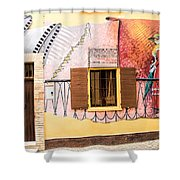 Mural Painting In Saludecio Shower Curtain