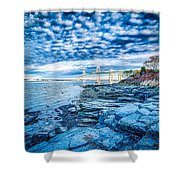 Newport Bridge Connecting Newport And Jamestown At Sunrise Shower Curtain