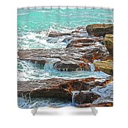 5- Ocean Reef Shoreline Shower Curtain