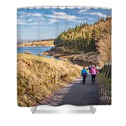 Pendle Hill Walk, North Yorkshire, Uk Shower Curtain