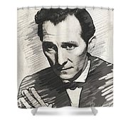 Peter Cushing, Vintage Actor Shower Curtain