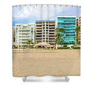 Playa De Chipipe In Salinas, Ecuador Shower Curtain