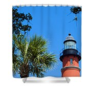 Ponce De Leon Inlet Lighthouse Shower Curtain