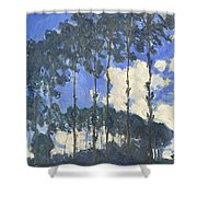 Poplars On The Epte Shower Curtain