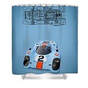 Porsche 917 Shower Curtain