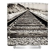 Railway Tracks  Shower Curtain