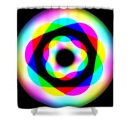 Rainbow Waves Shower Curtain