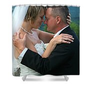Rebecca And David Shower Curtain