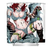 Red Sonja Shower Curtain